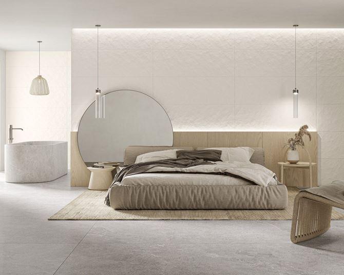 Sypialnia z łazienką w drewnie i strukturze Paradyż Sleeping Beauty