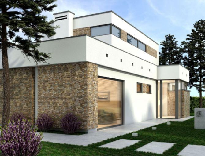 Elewacja budynku z cegły klinkierowej