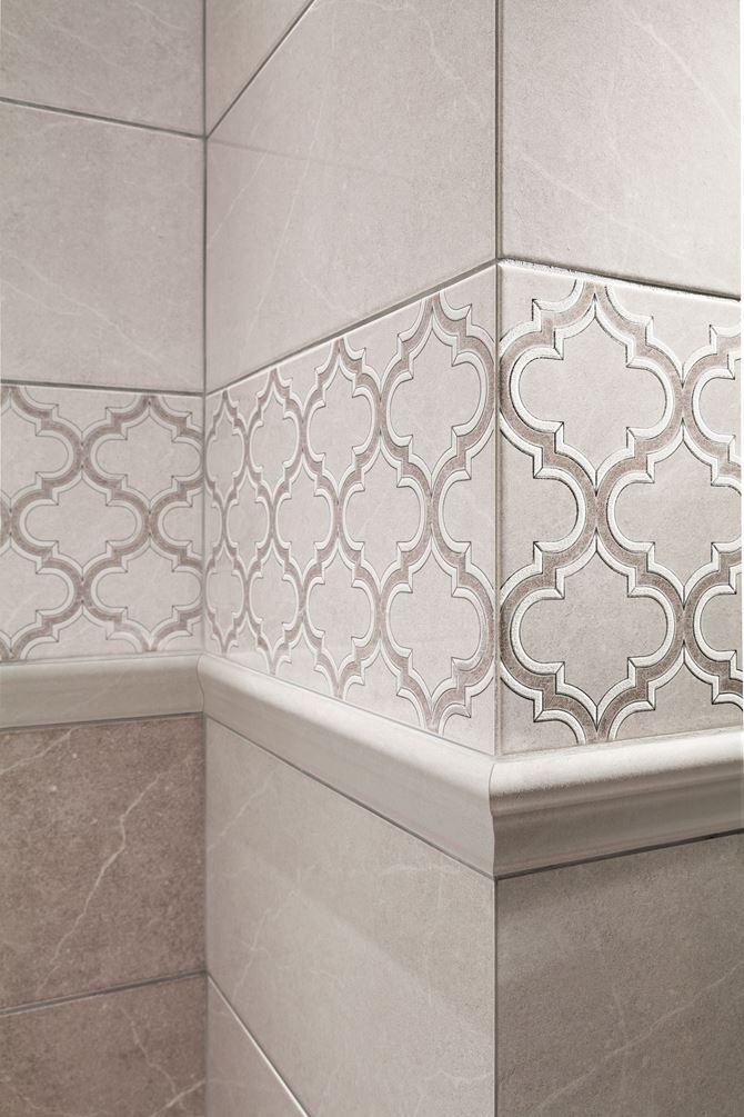 Detal kafli dekoracyjnych Domino Braid grey