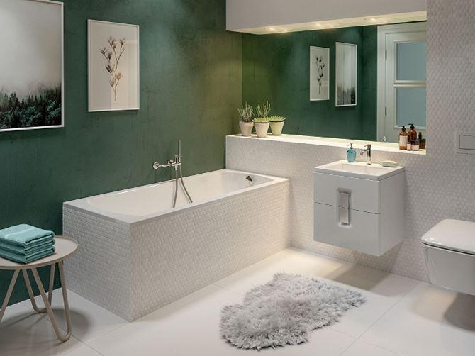 Aranżacja łazienki z wanną Koło Perfect