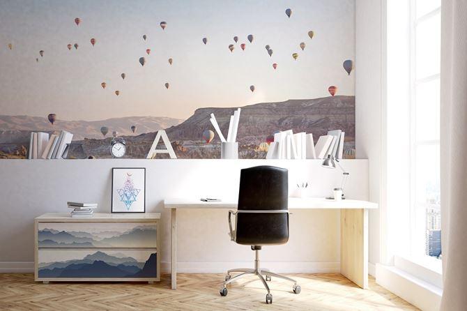 Pokój nastoletniego marzyciela z piękną fototapetą Pixers