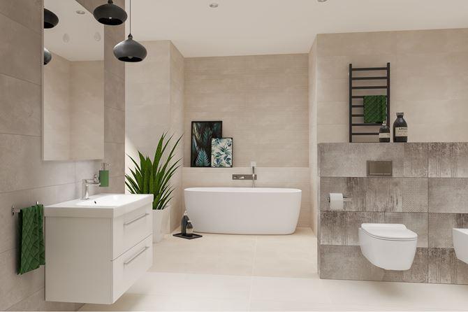 Azario Neutro - aranżacja łazienki
