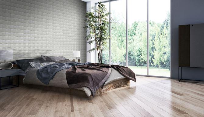 Dekoracyjna ściana z kamienia w sypialni Stone Master Pillow Stone