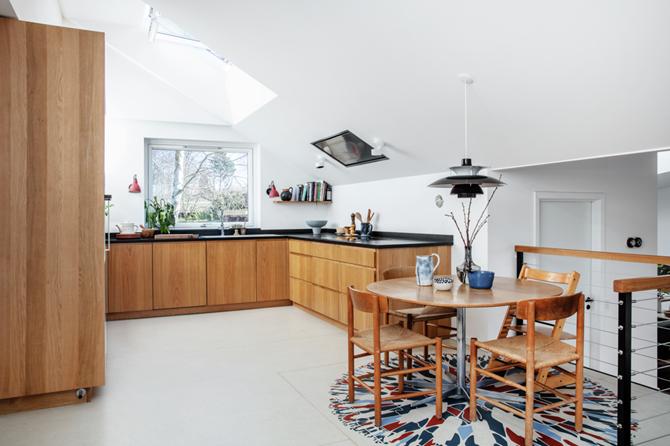 Kuchnia ze świetlikami dachowymi Velux