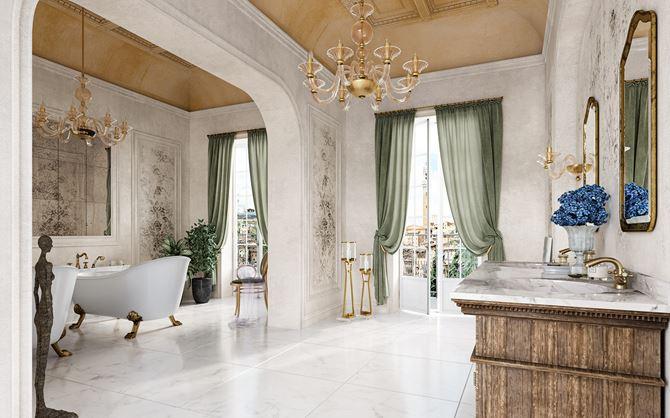 Salon kąpielowy w stylu glamour