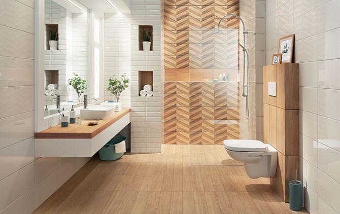 Łazienka w drewnie Domino Brika