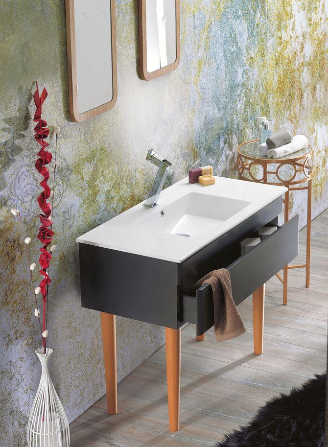 Aranżacja umywalka CeraStyle Ibiza 050300-u