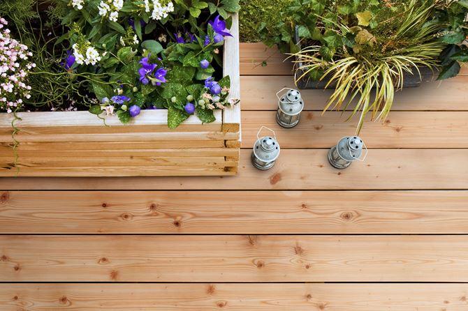 Modrzew Syberyjski deska tarasowa drewniana DLH