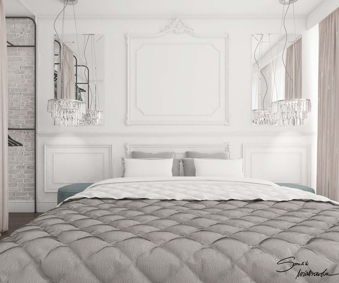 Sypialnia w pałacowym stylu
