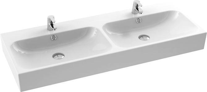 Podwójna umywalka meblowa CeraStyle Pinto 080700-u