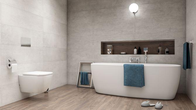 Łazienka w aranżacji kolekcji Azario Porto