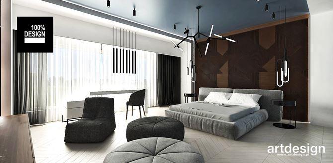 Aranżacja sypialni z nowoczesnym oświetleniem
