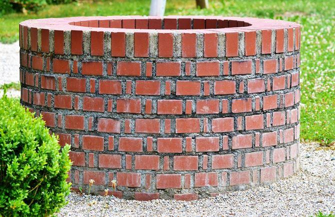 Studnia z cegły klinkierowej