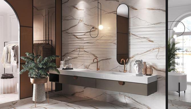 Stylowa łazienka w kolekcji Opoczno Cosima