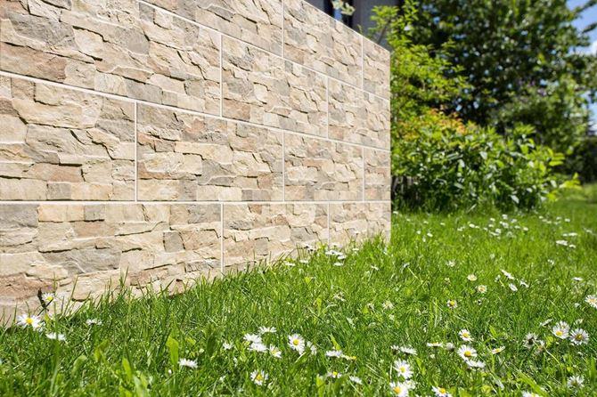 Pomysł na ogrodzenie - płytki Aragon Savanna