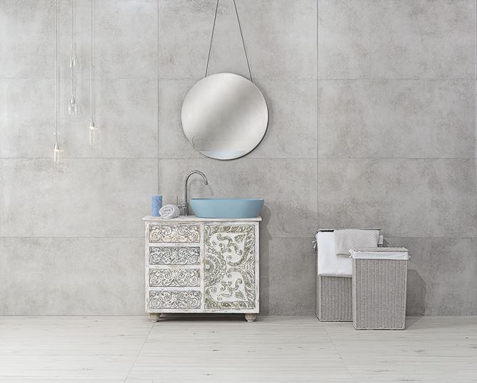 Betonowe szarości w łazience Nowa Gala Mirador