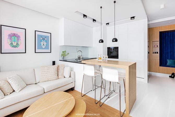 Aranżacja salonu i kuchni w mieszkaniu