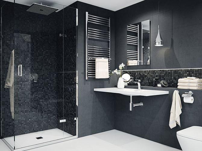 Nowoczesna łazienka w dwóch kolorach