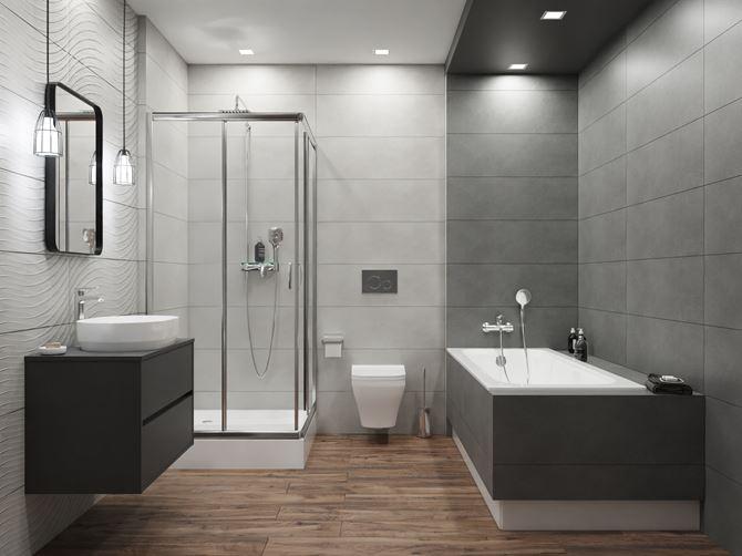 Nowoczesna łazienka w szarościach Azario Coma