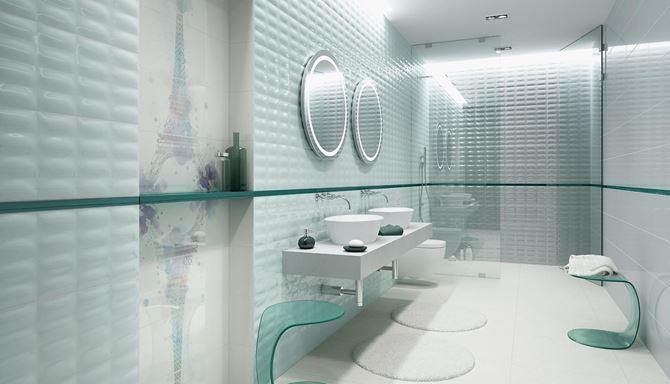 Miętowa łazienka dla dwojga