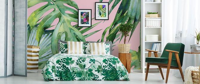 Sypialnia w stylu urban jungle