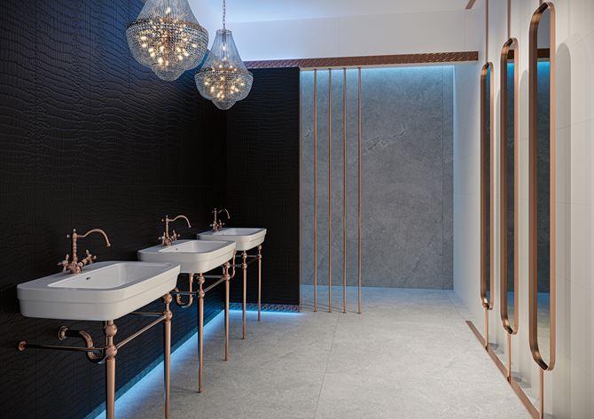 Łazienka w stylu glamour z kolekcji Paradyż Fashion Spirit