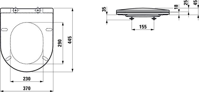 Deska sedesowa wolnoopadająca PRO SLIM 866956 wymiary
