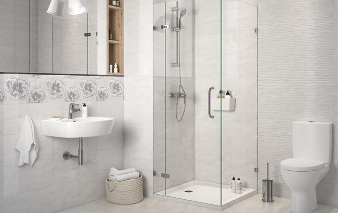 Klasyczna łazienka w szarościach