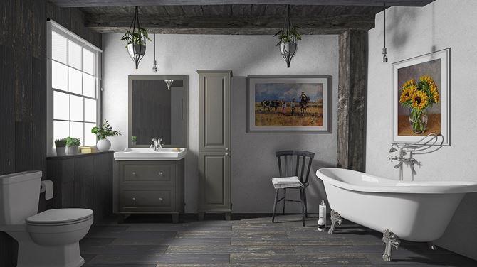 Łazienka w stylu rustykalnym - Paradyż Herrera