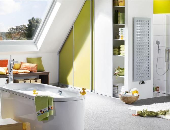 W dziecięcej łazience nie możemy zapomnieć o miejscu na ulubione kąpielowe gadżety i zabawki. Fot. Kaldewei
