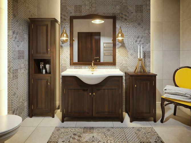 Piękno w drewnianej oprawie - meble łazienkowe Defra Klasis