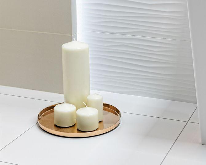 Aranżacja białej łazienki Elanda Elando marki Ceramika Paradyż