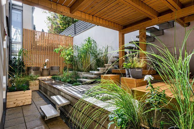 Zielone patio na dachu