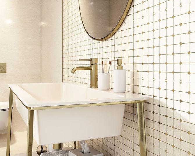 Detal aranżacji nowoczesnej łazienki Anello Ceramika Paradyż