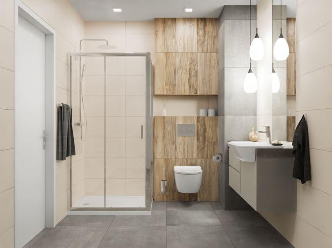 Nowoczesna łazienka w płytkach Vijo Puntino