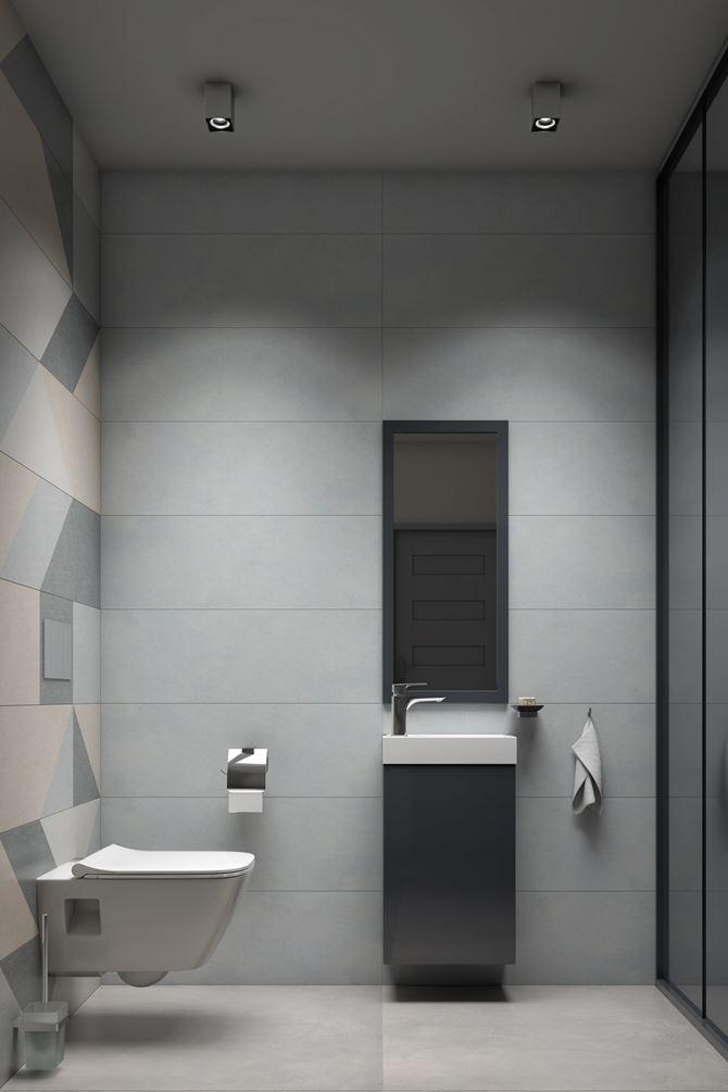 Paradyż Linum - projekt toalety w bloku