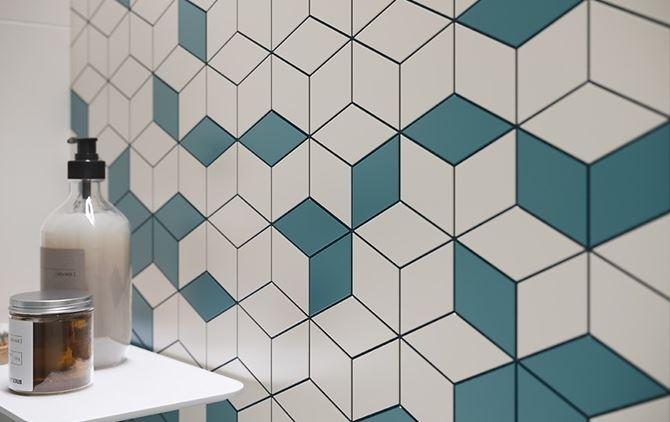 Detal mozaiki ściennej Colour Blink