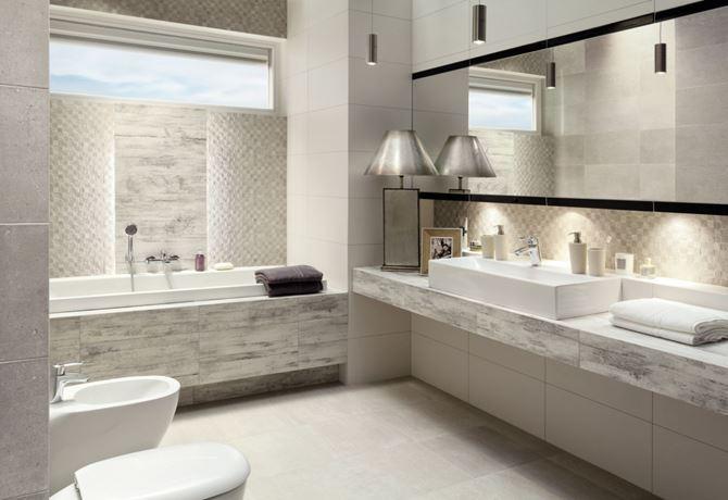 Aranżacja łazienki w kolekcji Tubądzin Timbre