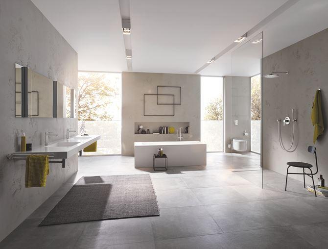 Aranżacja łazienki z linią Grohe Lineare