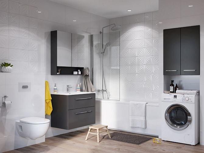 Biała łazienka w nowoczesnej aranżacji