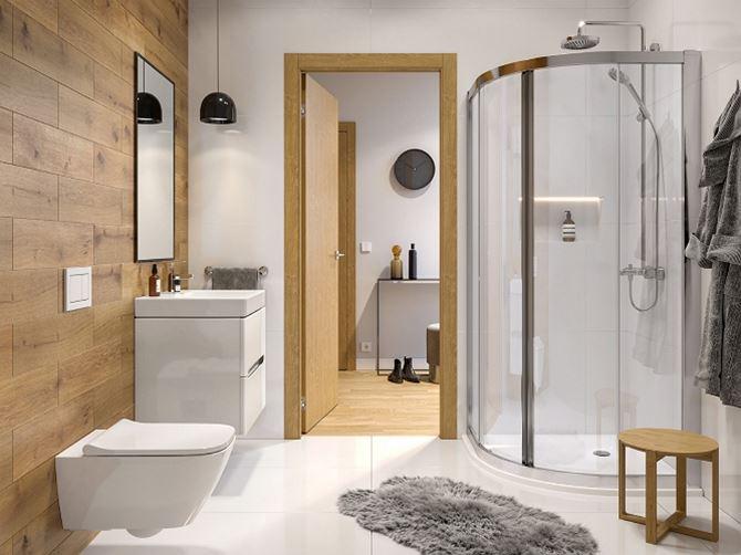 Aranżacja nowoczesnej łazienki z drewnianymi akcentami
