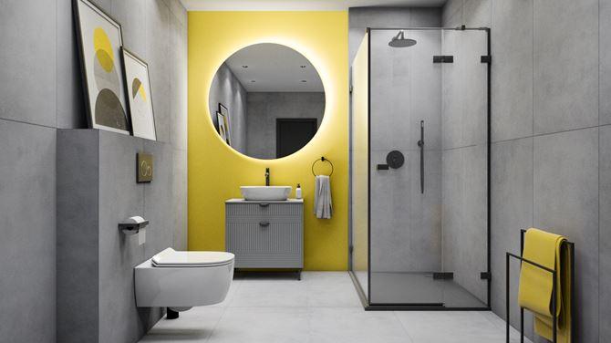 Nowoczesna łazienka w kolorach roku 2021 Pantone