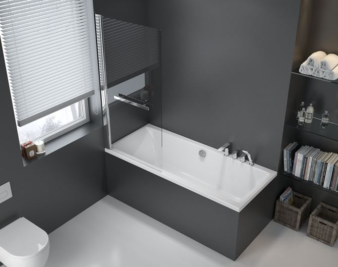 Wanna prostokątna w łazience Excellent Pryzmat WAEX