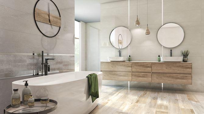 Grandes - łazienka w drewnie