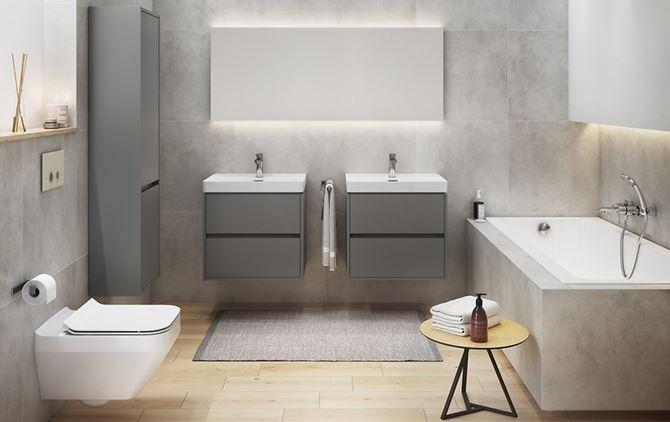 Aranżacja łazienki w odcieniach szarości
