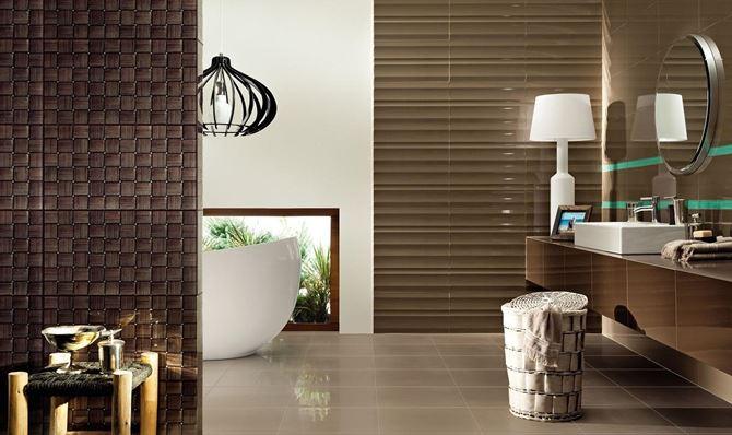 Brązy w łazience Tubądzin Colour Brown