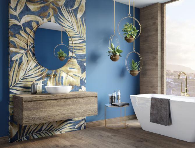 Łazienka w aranżacji koloru roku Classic Blue