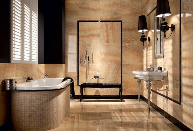 Marmurowa łazienka Tubądzin Monaco