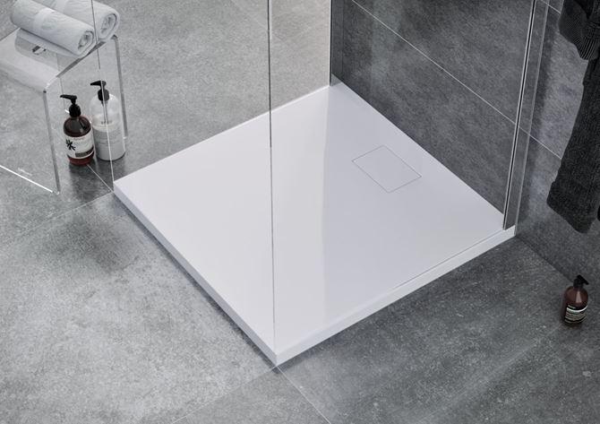Akrylowy brodzik kwadratowy Excellent Zero