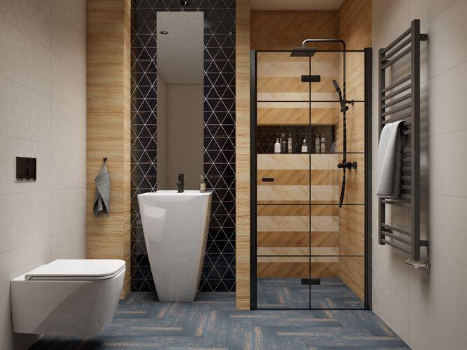 Łazienka w domu w kolekcji Tubądzin Inpoint